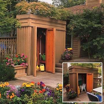 Garden Patio Shed | W/ Green Roof | Heath Ashli | Flickr