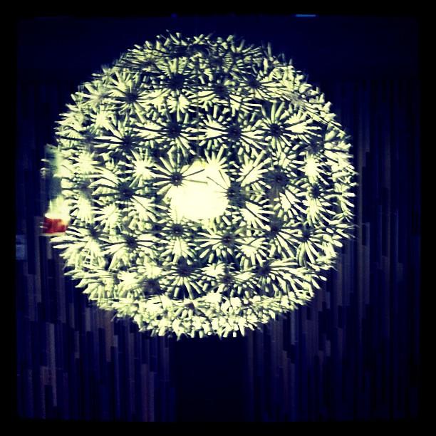 Paper daisy chandelier from ikea want charoo flickr paper daisy chandelier from ikea want by charoo mightylinksfo