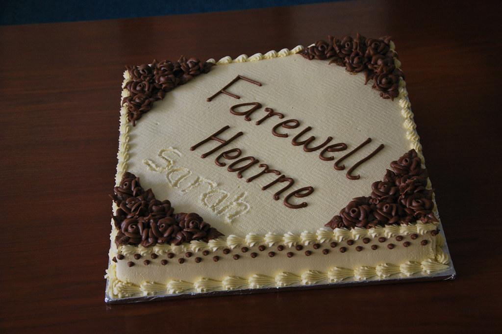 Farewell Cake For Hearne Farewell Celebration For Hearne