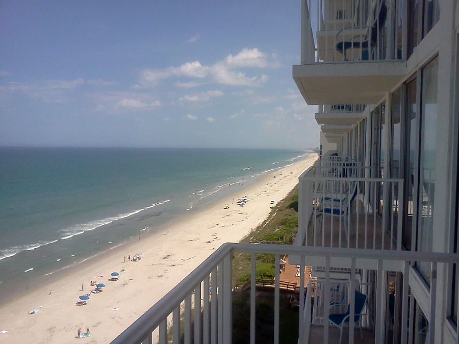 view from radisson hotel at melbourne beach fl. Black Bedroom Furniture Sets. Home Design Ideas