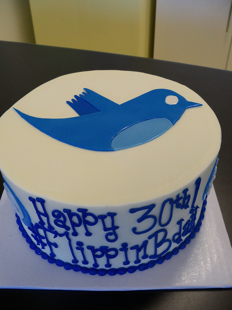 Twitter Birthday Cake All Custom Cakes Require At Least 14 Flickr
