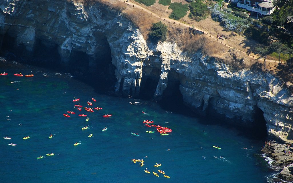 2222 La Jolla Sea Caves Kayak Sit On A Bench Jump Off