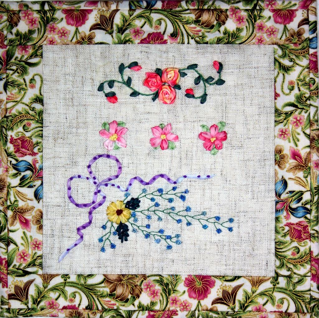 Ribbon embroidery sampler twilt shelley swanland flickr