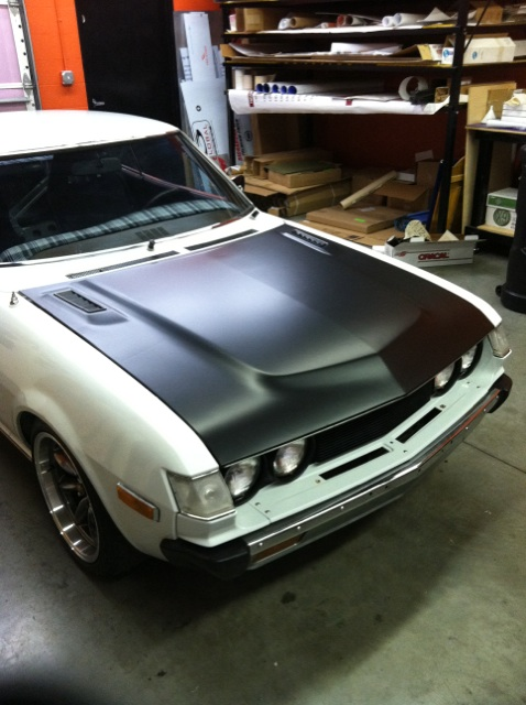 1975 Toyota Celica Matte Black Hood Wrap By 12 Point Sign Flickr