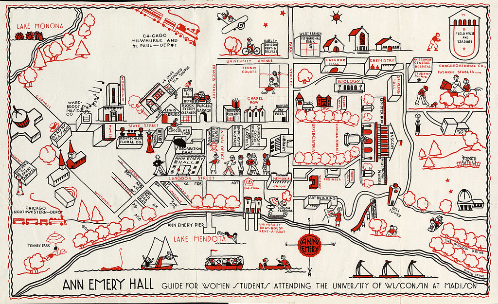 University of Wisconsin campus map, 1927 | University of Wis… | Flickr