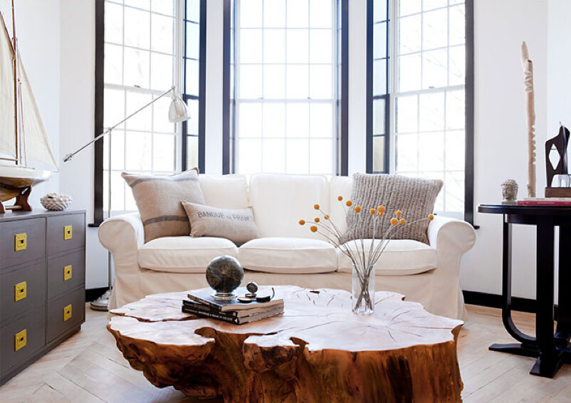 The brooklyn home company emily gilbert eclectic white for Living room brooklyn