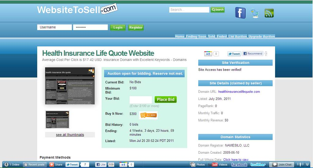 Websites for sale health insurance life quote website for Online website for sale