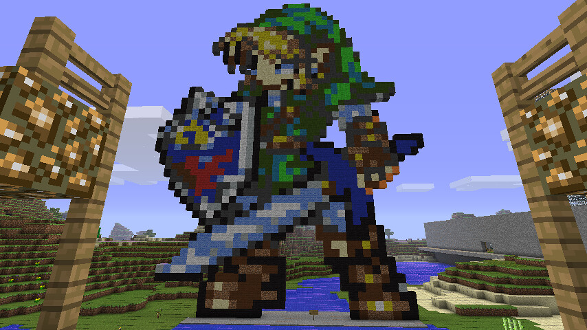 Photos Photos And More Photos >> Link   This more detailed pixel art is of Link.   MineCrack   Flickr