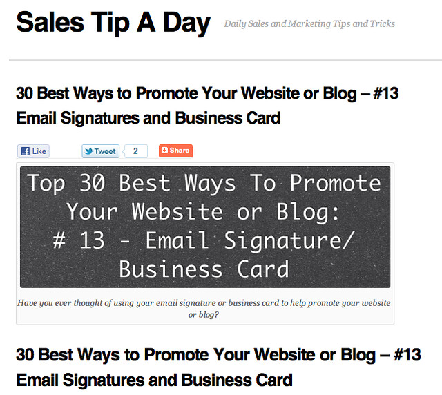 30 Best Ways to Promote Your Website or Blog 13 Email S