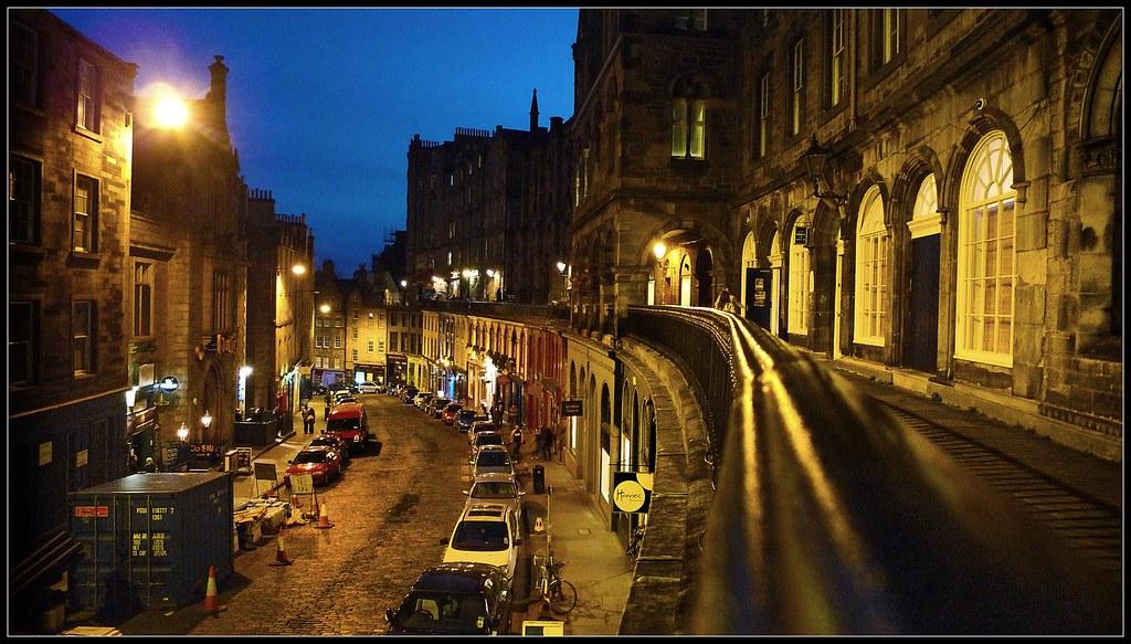 Victoria Street At Night Edinburgh Scotland 2011 A