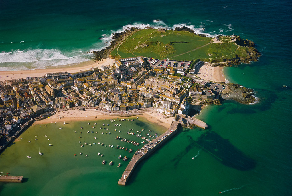 St ives from the air an aerial perspective of st ives for The ives
