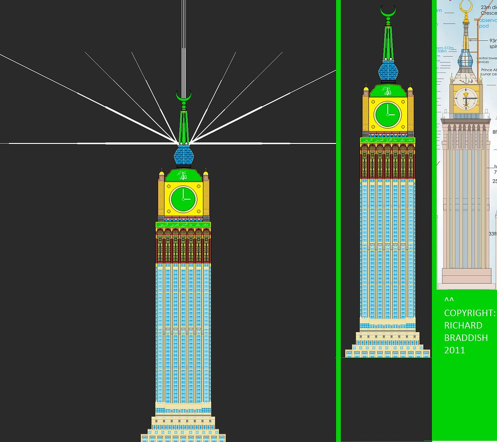 Makkah Clock Tower Render and Comparison | A self-made ...
