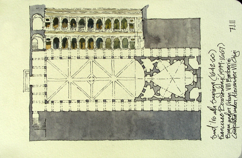 Elevation Plan Image : Sant ivo alla sapienza roma italia  plan