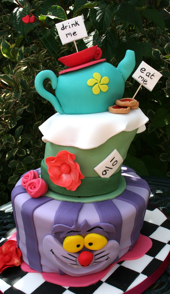 Mad Hatters Tea Party Wonky Cake This Is My First Wonky C Flickr