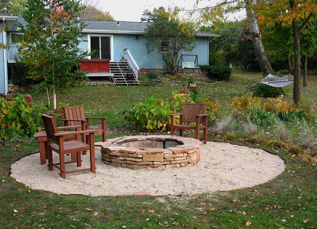 fire pit gravel is poured this is only temporary till our flickr. Black Bedroom Furniture Sets. Home Design Ideas