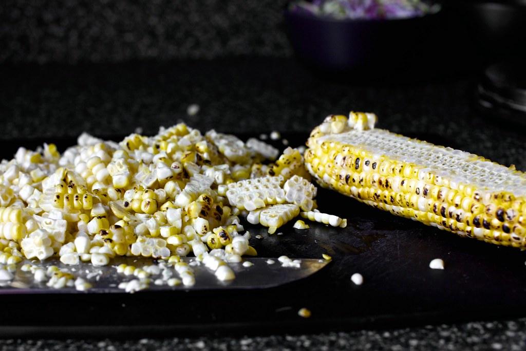 semi-charred corn | Charred Corn Tacos with Zucchini-Radish ...