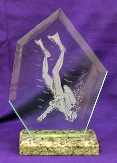 Diver Award | by Northern Art Glass