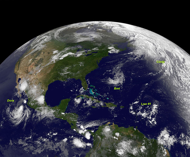 NASA Sees Bret, Cindy and Dora