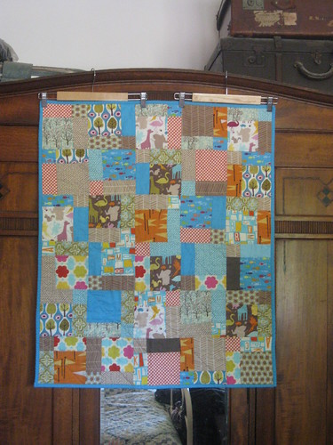 Disappearing Nine Patch Baby Quilt in Central Park | by A Labour of Love