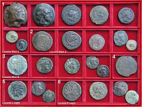 x Luceria Roman Republican struck Bronzes, Second Punic War Period | by Ahala