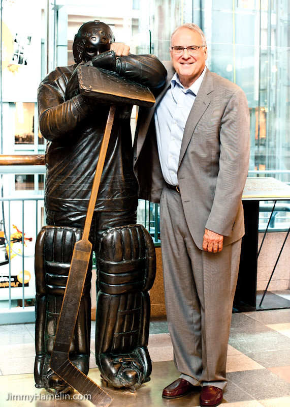 Ken Dryden and his Bronze at Place Montreal Trust   Jimmy ...