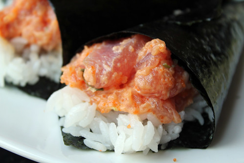 Spicy tuna hand roll | by quinn.anya