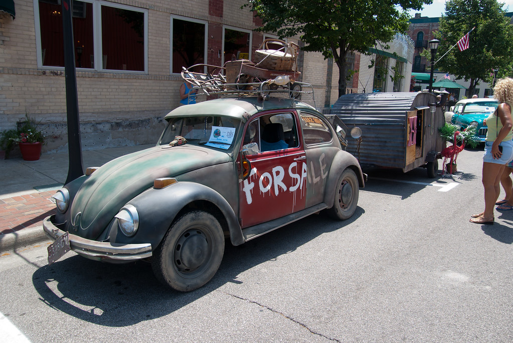 1971 vw beetle with tin camping trailer the vw sites. Black Bedroom Furniture Sets. Home Design Ideas