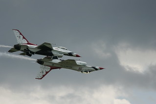 USAF Thunderbird Pair - One Inverted | by mark_mullen