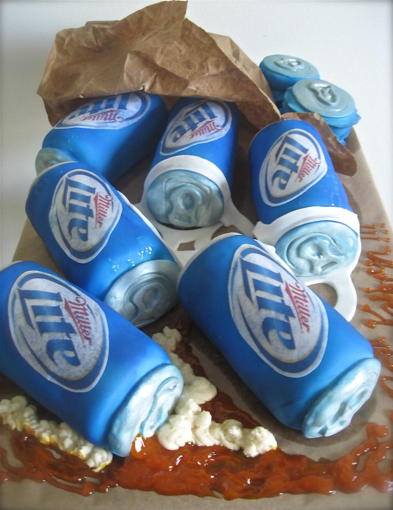 Miller Lite Cake Raspberry Filled Vanilla Cakes Rolled Int Flickr