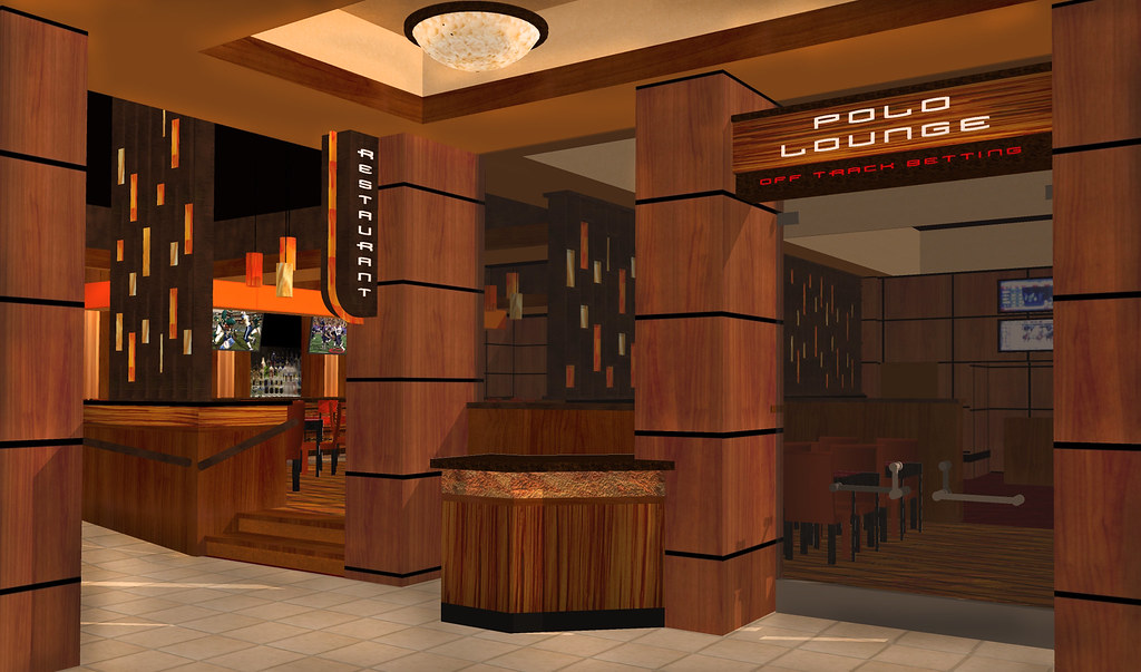 Casino restaurant entry interior design concept