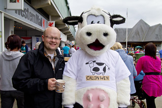 Andrew and Moula the Cow | by Carwyn Lloyd Jones - Dylunio Creadigol