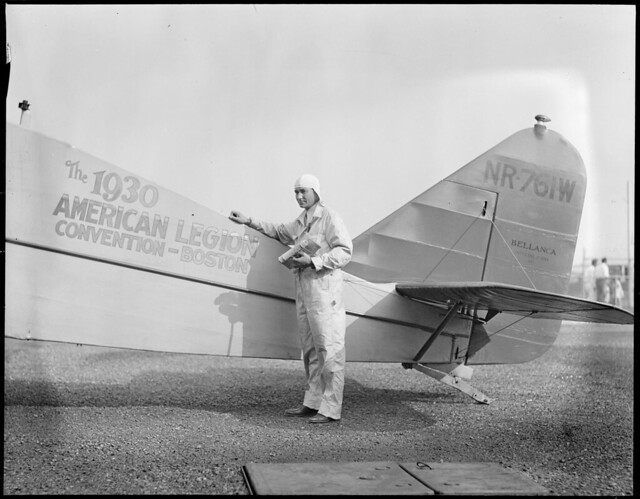 Russell Boardman and his plane he is to fly across the oce ...