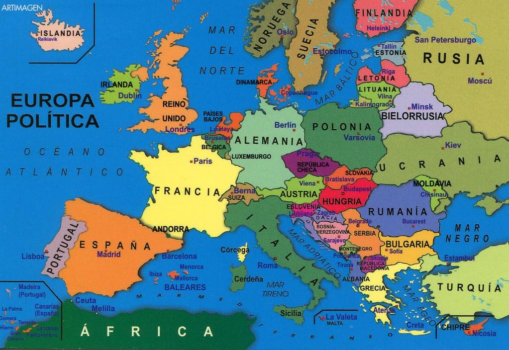 mapa politico da europa Europa, Mapa Político | Fast Favourites Tag from bogdanovska… | Flickr mapa politico da europa