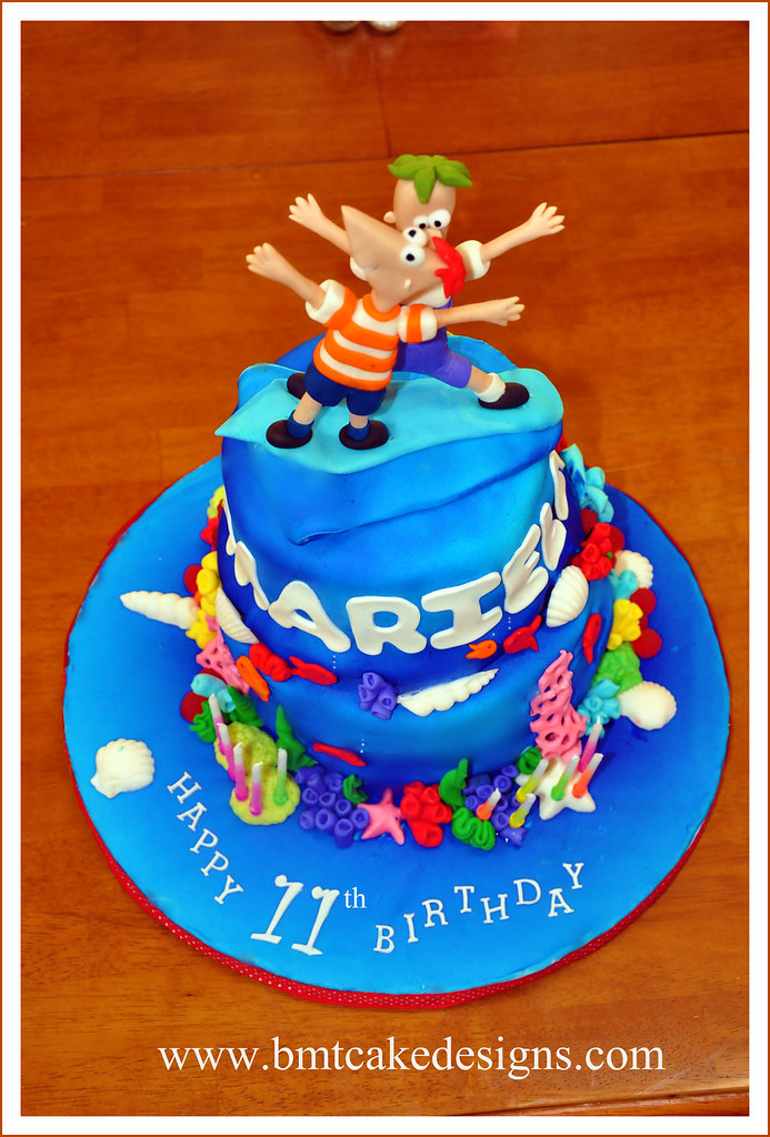 Phineas and ferb cake yesterday was the perfect day to hav flickr phineas and ferb cake by bmt cake designs gumiabroncs Images