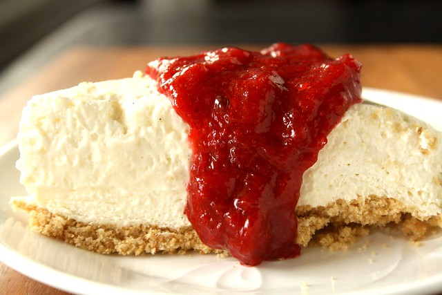 No-Bake Low-Fat Strawberry-Rhubarb Cheesecake | Flickr - Photo Sharing ...