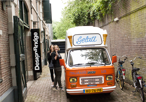 Design bridge ice cream van visits amsterdam office flickr for Design bridge amsterdam