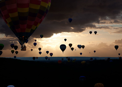 Sunset at LORRAINE MONDIAL AIR BALLONS, Chambley, France | by Gaston Batistini Thks for 7 million views :) !