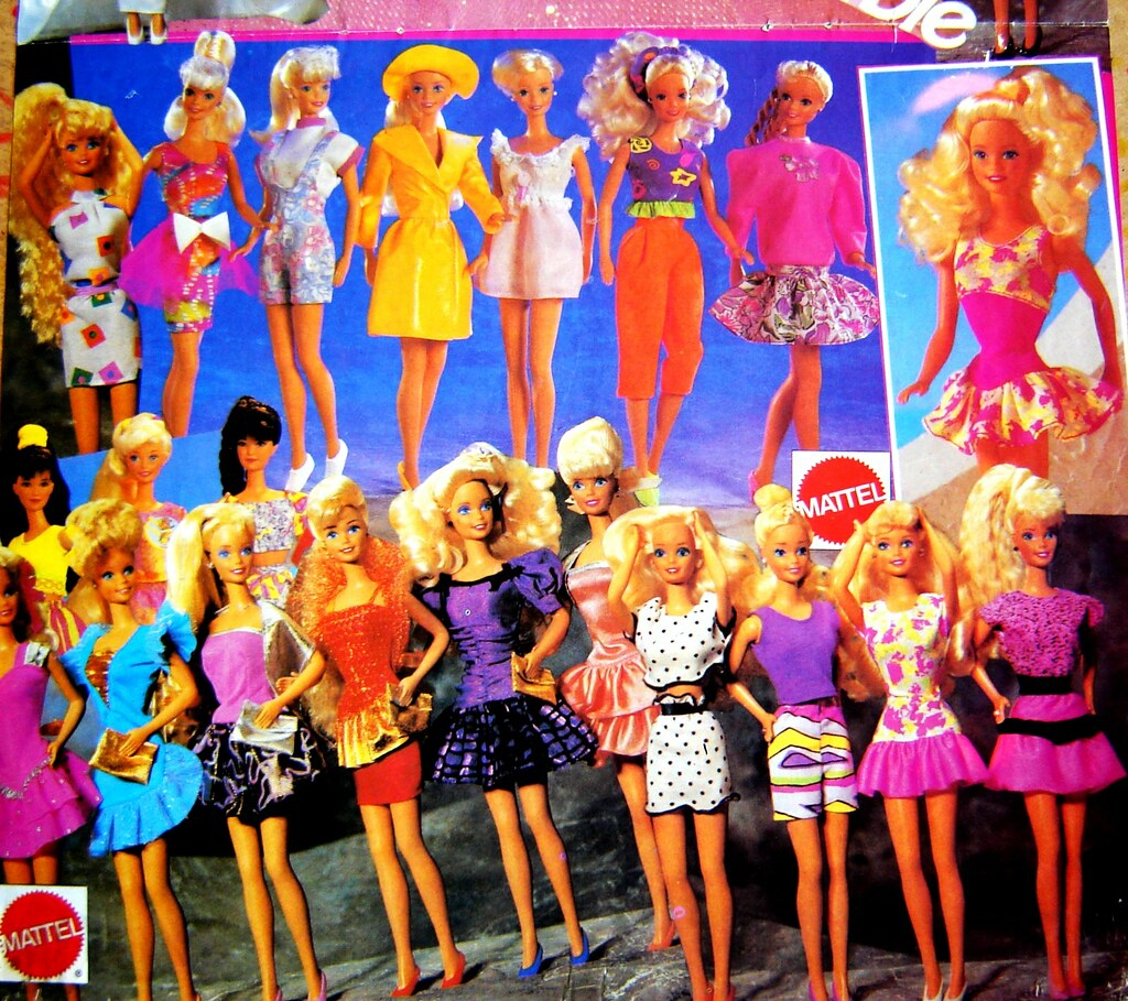 Barbies From The Early 90s Barbie Poster Early 90's