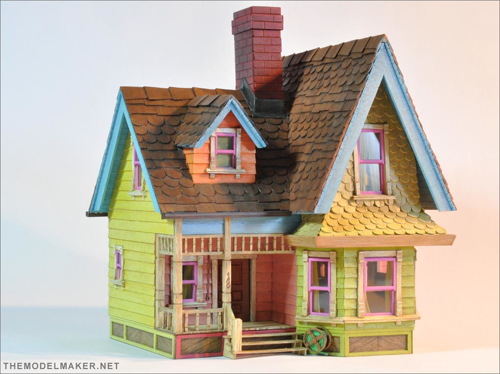 victorian dollhouse pixar up 3 | 1:48 Dollhouse I built ... House Made Of Sticks Cartoon