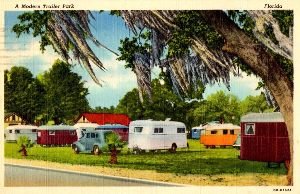 Trailer Park Orlando Florida 1941