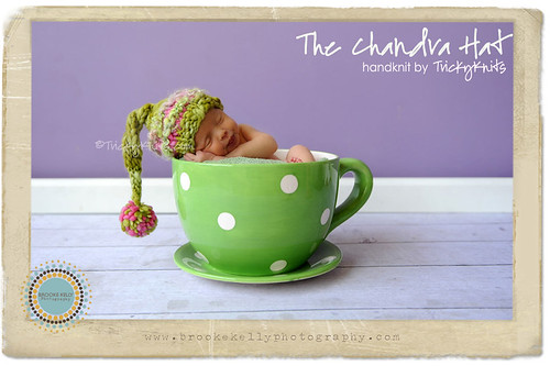 TrickyKnits Chandra Hat Chunky Newborn Stocking Tail Hat Photo Prop | by TrickyKnits Custom Props