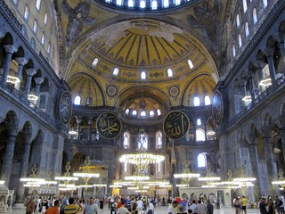 Nave seen from main entrance, Aya Sofya, Istanbul | by wrightrkuk