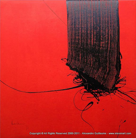 m503 peinture abstraite rouge art contemporain paris