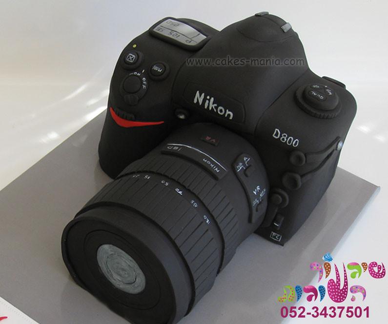 Camera Cake By Cakes Mania Close Up עוגת מצלמה מאת שיגעון