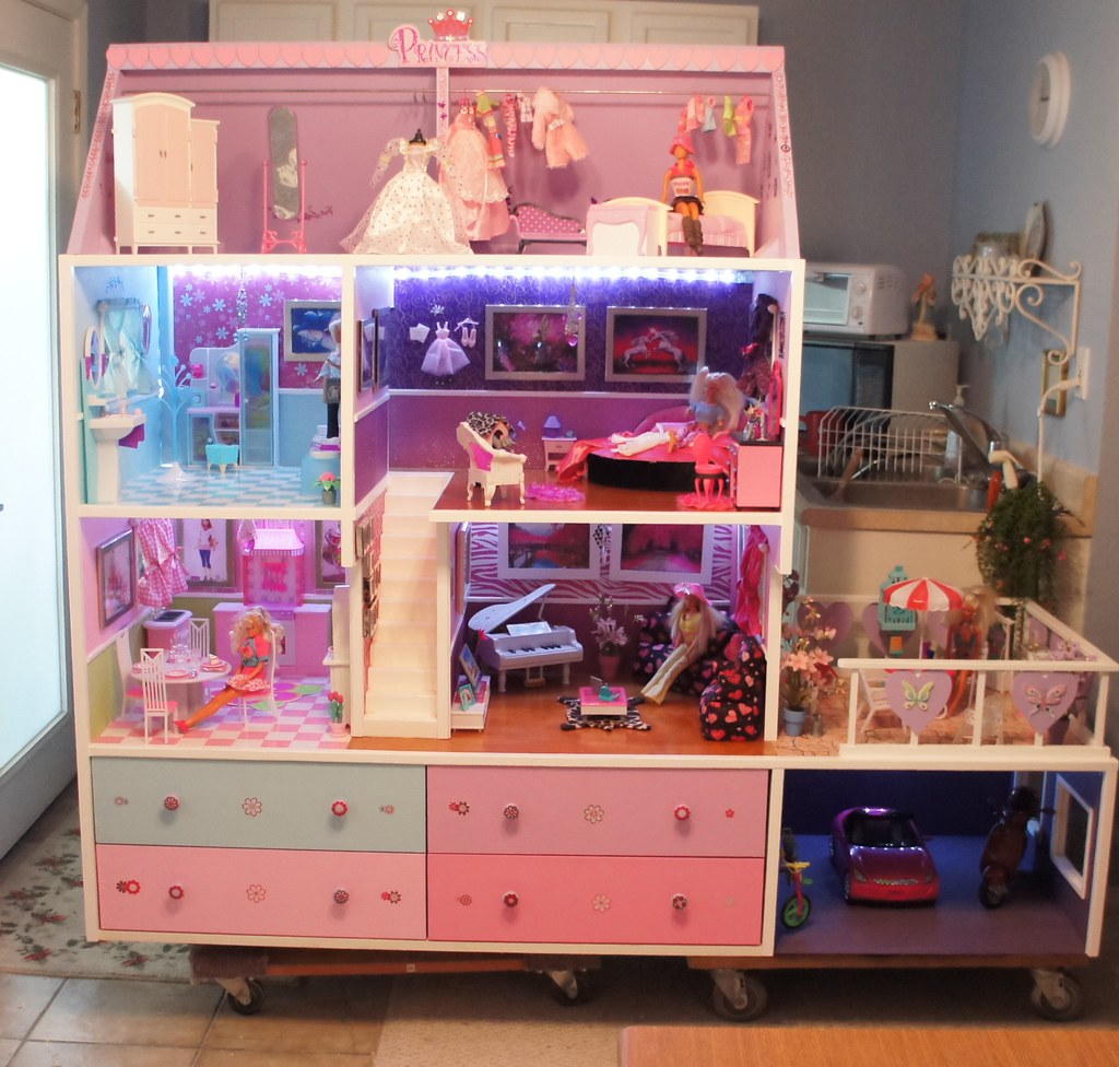 Barbie Doll House Completed Lights Camera And Action