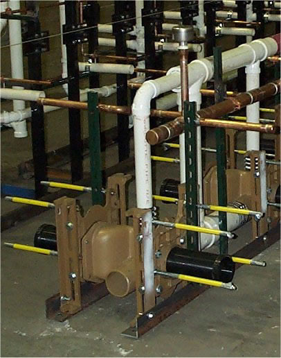 Horizontal Water Closet Pre Fab Battery With Pvc Piping I