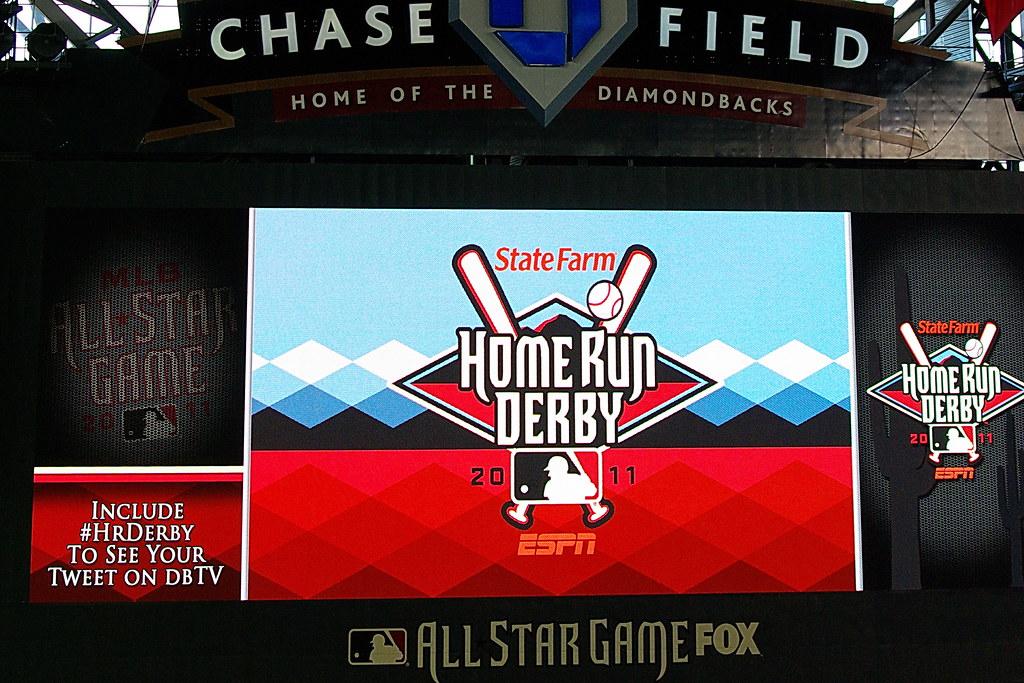 State Farm Home Run Derby Logo on the Jumbotron - Chase Fi ...