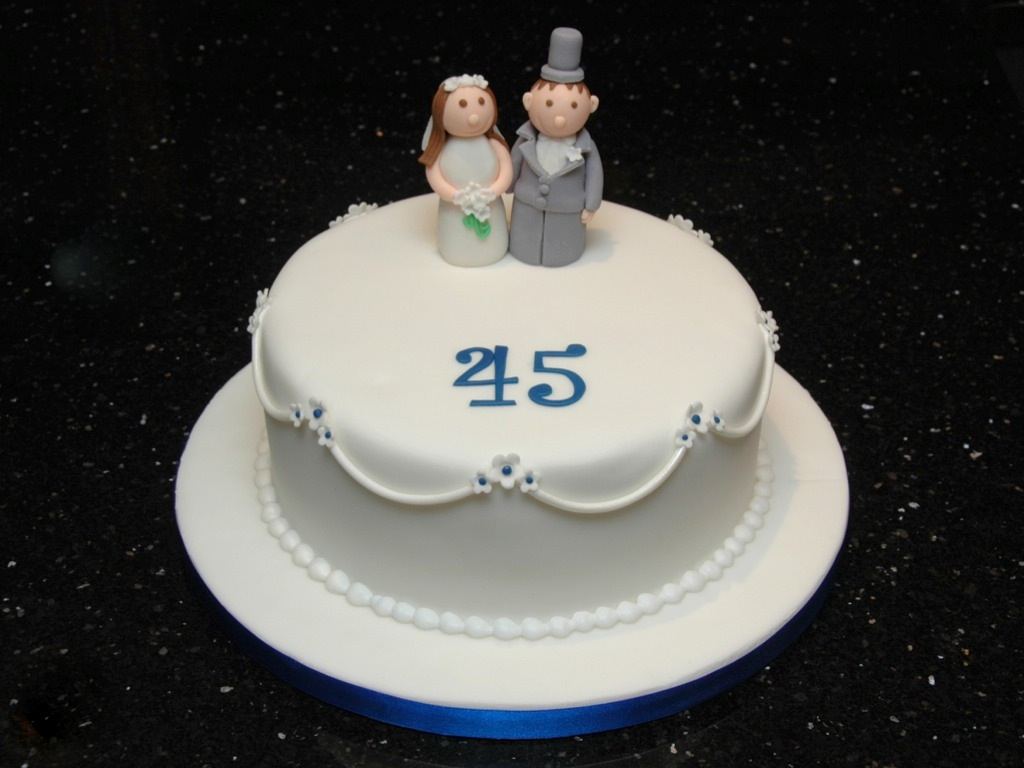 45th Wedding Anniversary Cake Joanne Mcdonald Flickr
