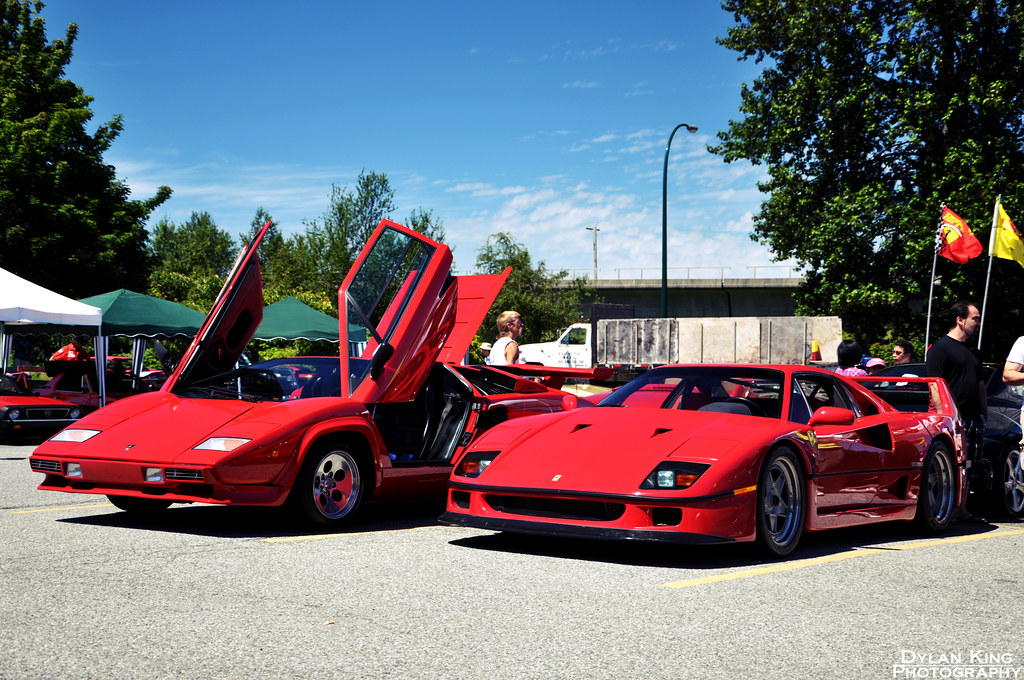 Lamborghini Countach And Ferrari F40 Check Out My