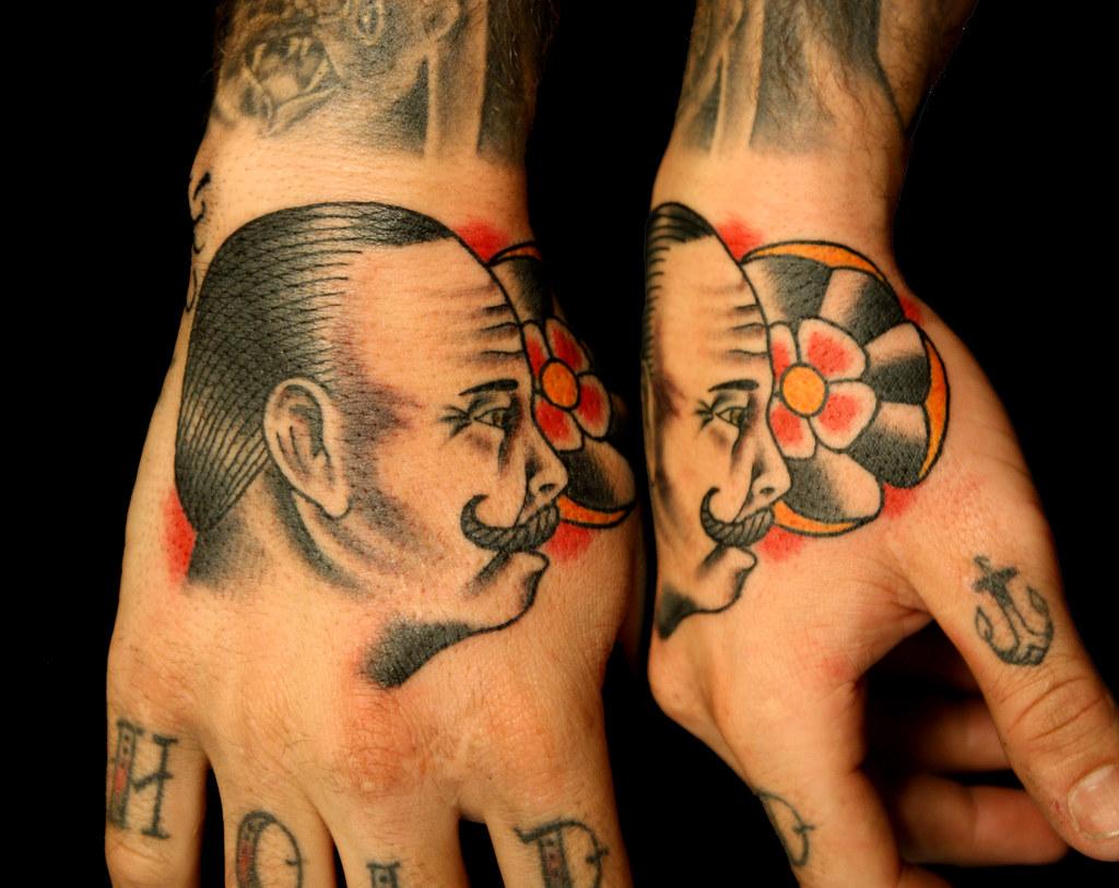 Hand tattoo boxer myke chambers tattoo by myke chambers for World in hands tattoo